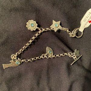 Israel sterling silver ss gem bracelet NWT